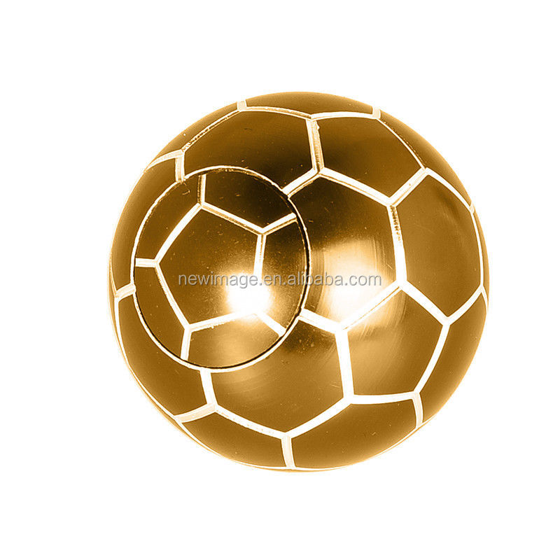 Metal Football Fidget Spinner Soccer Ball Shape Hand Finger Toy Stress Relief Gyro with wholesales price