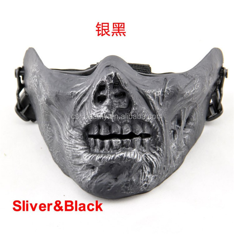 Ghost Masks Skull Balaclava Paintball Costume Outdoor Cs Helloween Airsoft  Hunting Cycling Army Tactical Half Face Mask - Buy Masks Skull,Tactical