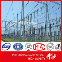 750KV Electrical Transmission Line Steel Power Substation