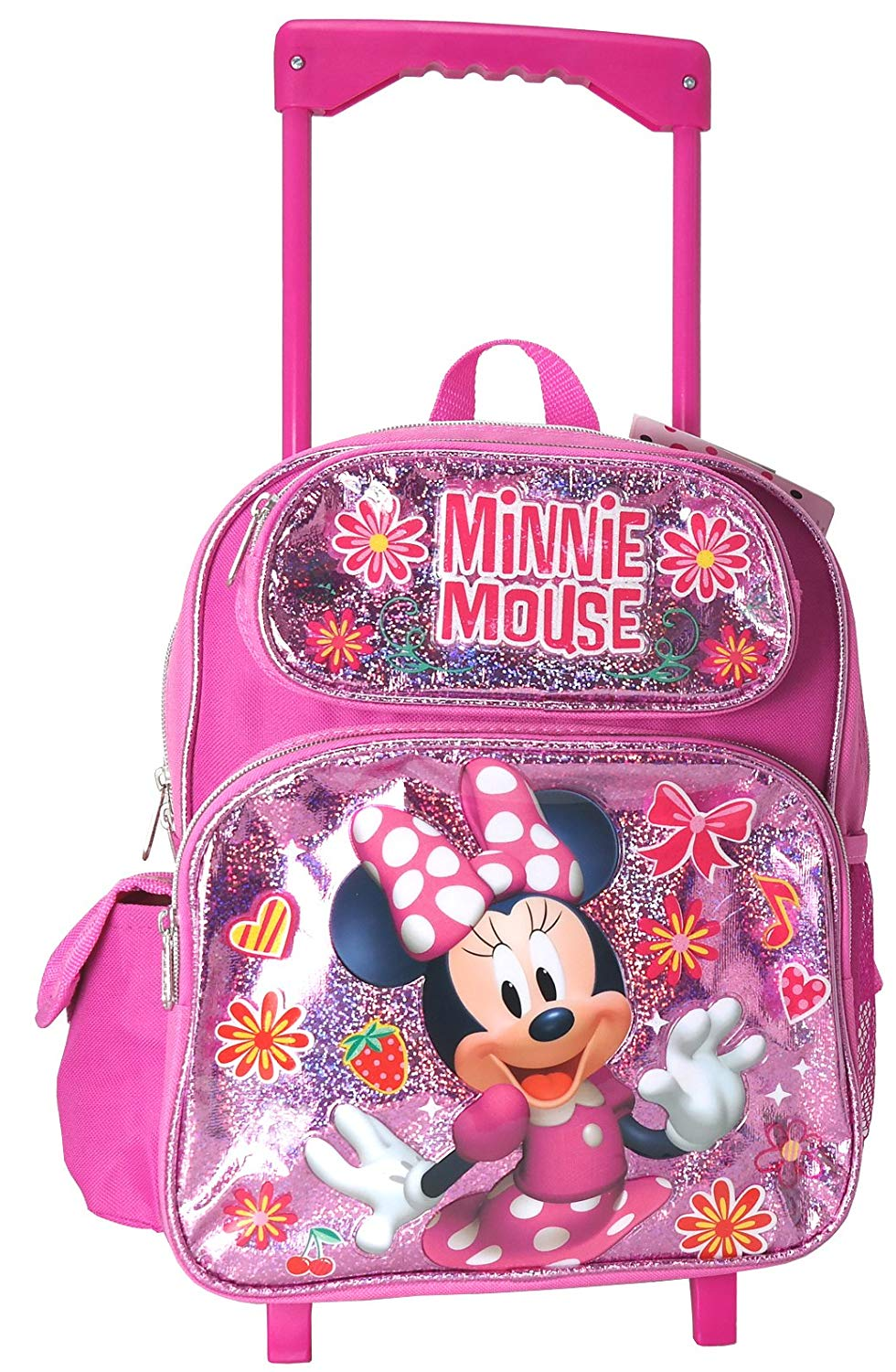Get Quotations · Minnie Mouse 12 inches Toddler Small Rolling Backpack 8ad816aa964cc