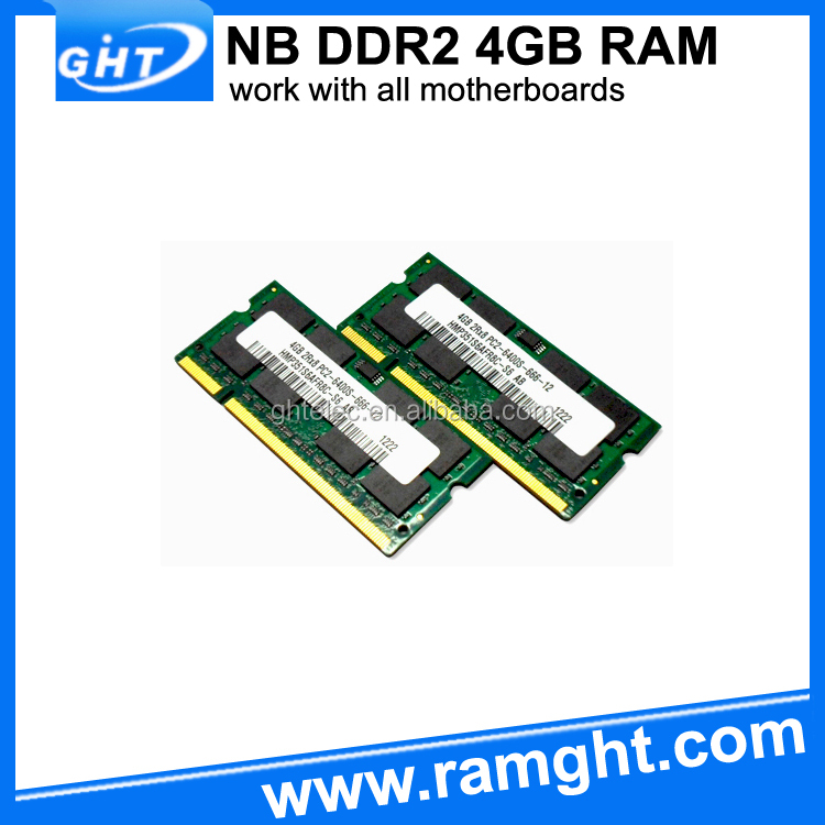 Sodimm ram memory 256mb*8 ddr2 4gb kit with low density