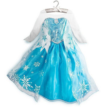 China supplier children custome clothes cosplay fashionable frozen elsa dress wholesale