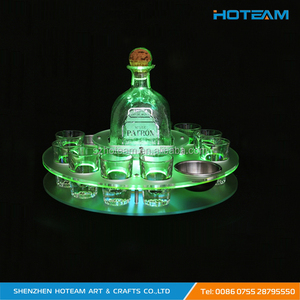 Acrylic LED Lighted Shot Glasses Serving Tray