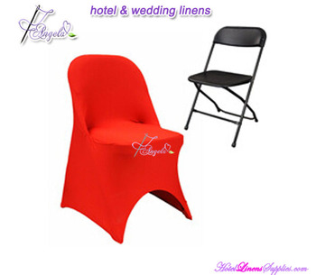 red lycra folding chair covers, red stretch wedding folding chair covers