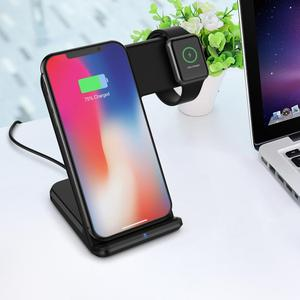 Factory Supply 2 in 1 Stand Charger Holder Charging Dock Stand Station For Apple Watch For Iphone