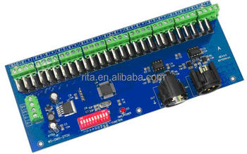 27channel(9groups) easy dmx512 decoder;DC12-24V input;constant voltage PWM output