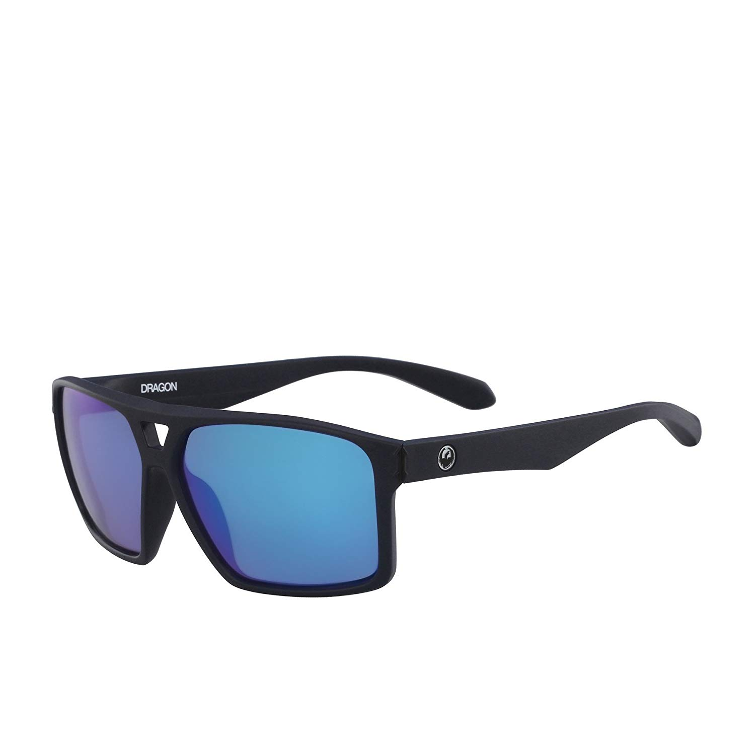 cb6cbbe8117 Get Quotations · Dragon Channel Matte Deep Navy Sunglasses One Size Blue  Ionized