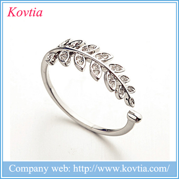 finger styled rings in ring double paris shop leaf