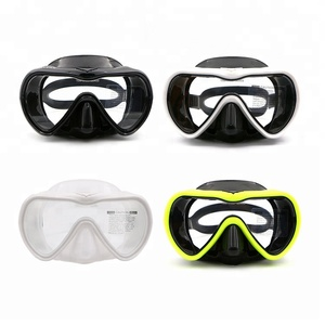 In Stock Professional Diving Equipment Scuba Adult One-piece lens Freediving Mask
