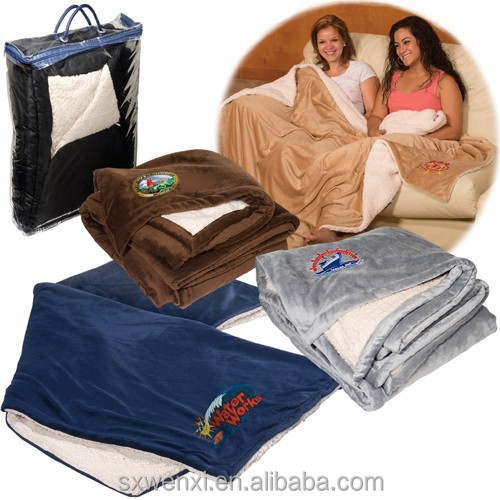 For Winter Warm and Super Soft and thick microfiber plush sherpa trow blanket