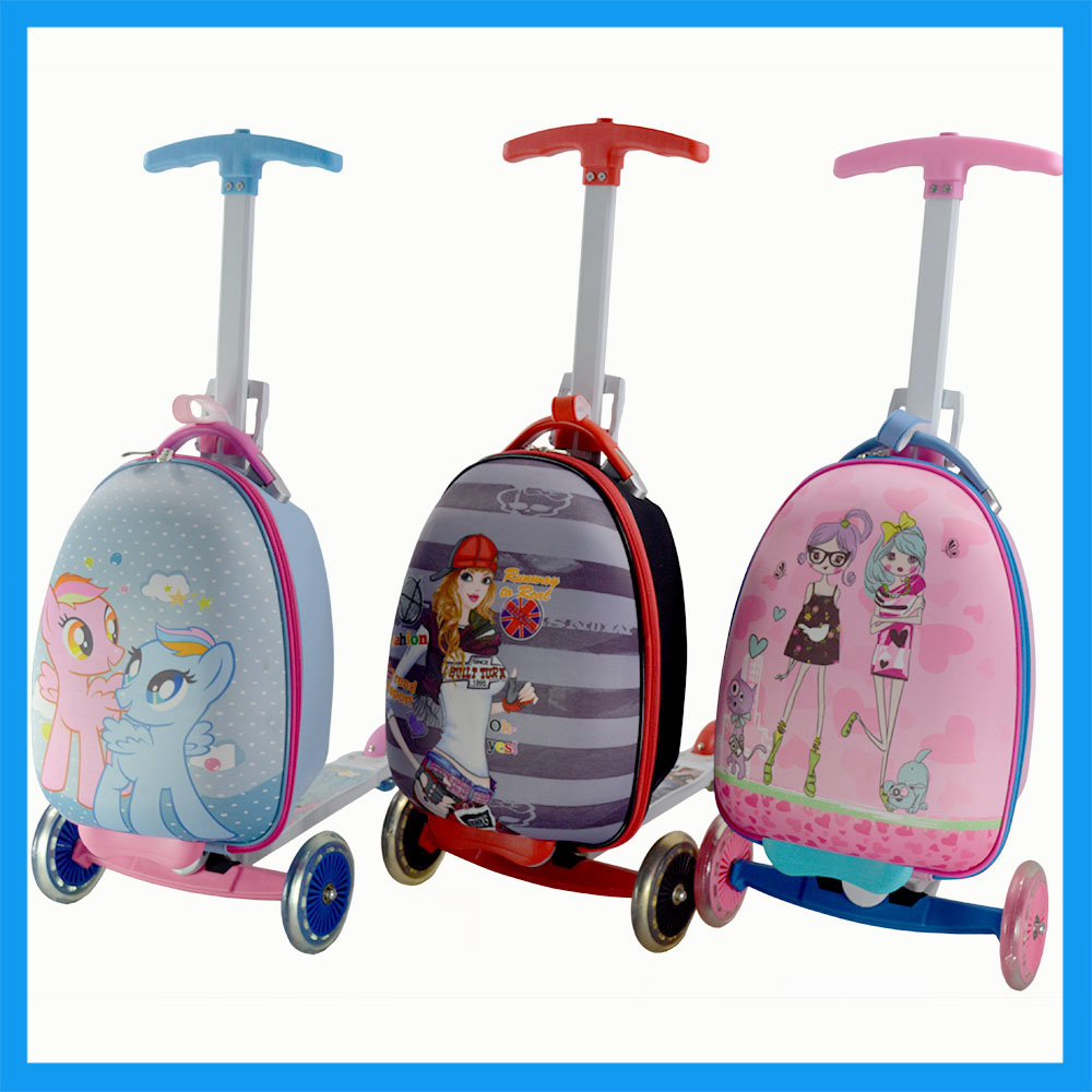 Kids Luggage Scooter Kids Roller Backpack - Buy Kids Luggage With ...