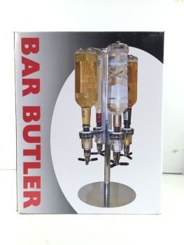 4 Bottles Bar Caddy Liquor Dispenser Bulter