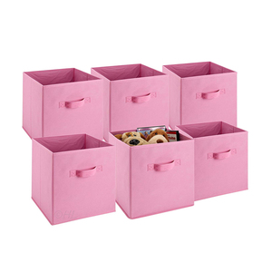 shelf cubes multipurpose cardboard drawer stackable square cloth storage box