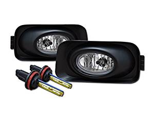 R&L Racing 3000K HID XENON CRYSTAL CLEAR FRONT BUMPER FOG LIGHTS+SWITCH 2003/2004-2006 TSX