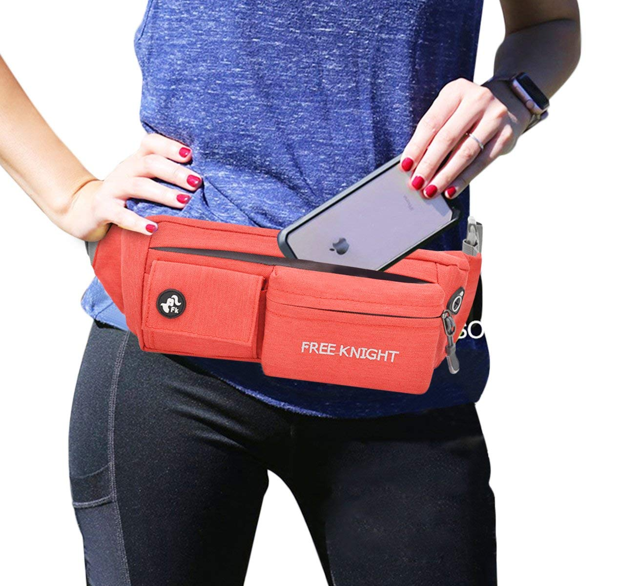6d7e338a3ac Get Quotations · Sports Fanny Pack Waist Bag Waterproof Running Belt With  Adjustable Strap For Traveling Outdoors Workout Stylish