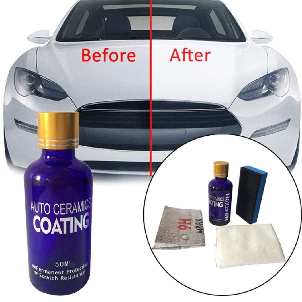 Exteren 9H Car Oxidation Liquid Ceramic Coat Super Hydrophobic Glass Coating Set Car Ceramic Coating Kit (Multicolor)