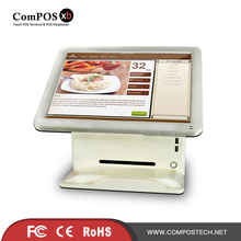15 Inch Resistive Touch Screen All in one POS payment Terminal/System with MSR and Customer Display