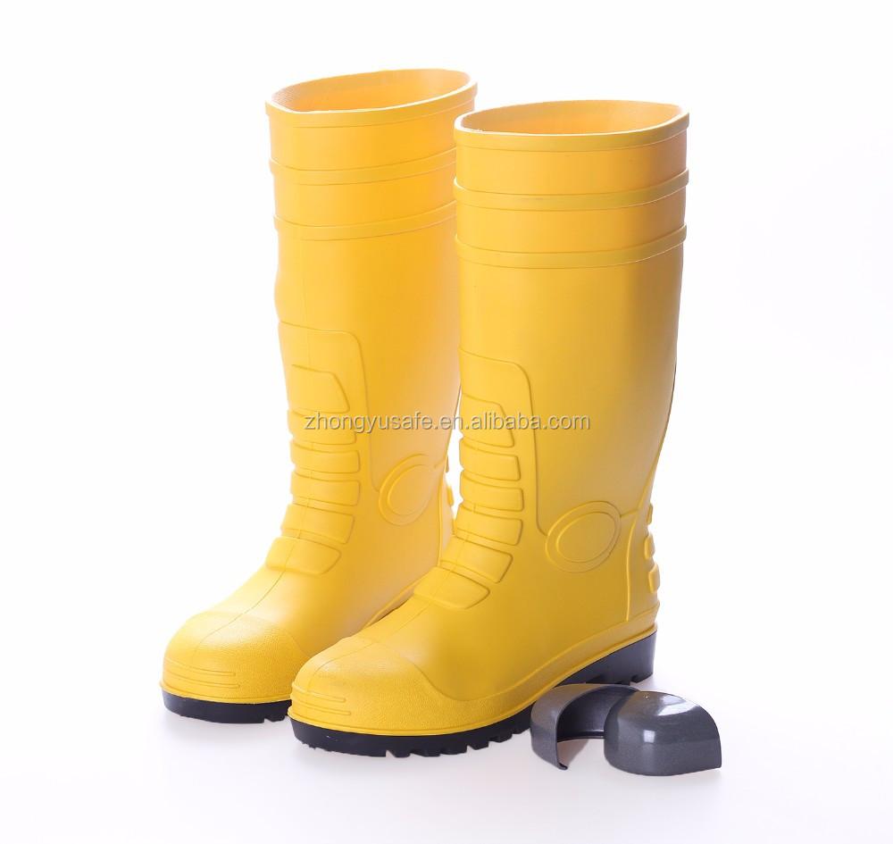 Yellow PVC Water Rainboots / Working