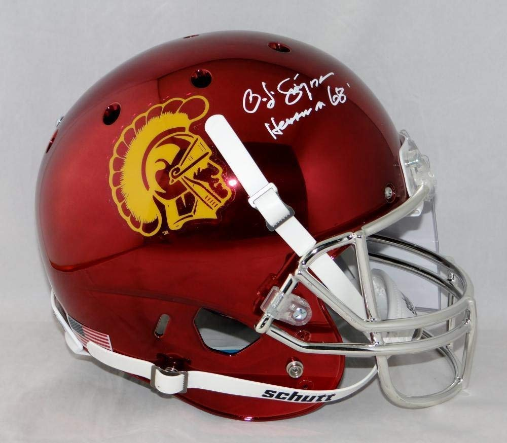 c38356ec691 O. J. Simpson Signed USC Trojans F/S Chrome Helmet W/Heisman- W Auth *White  - JSA Certified - Autographed College Helmets