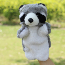 Delicate Baby Child Civet Cats Animal Hand Glove Puppet Finger Sack Plush Toy