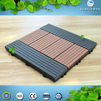 Recycled Wood Plastic Composite Decking Outdoor Anti-UV of the Easy Install of the swimming pool tile