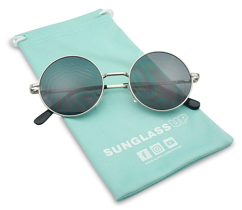 c390bfcab78c Get Quotations · Small 45mm Round 60s John Lennon Circle Metal Frame  Sunglasses