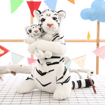 Simulated Tiger Plush Toy Mother and Child Tiger Stuffed Toy Customized Logo Mother's Day