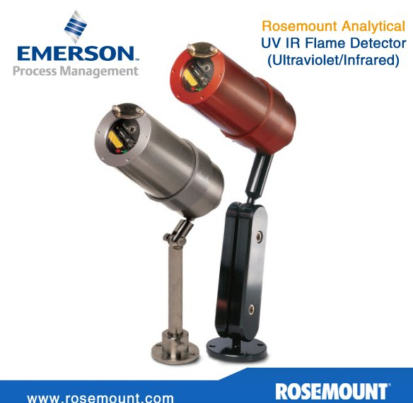 Emerson UV IR flame detector (Ultraviolet/Infrared) - HART available