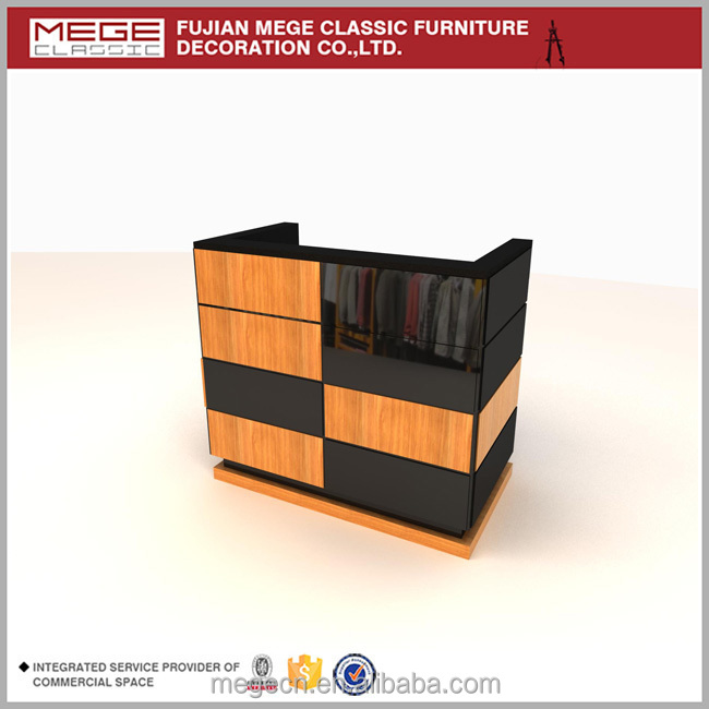 Clothes Shop Wooden Cash Counter Design