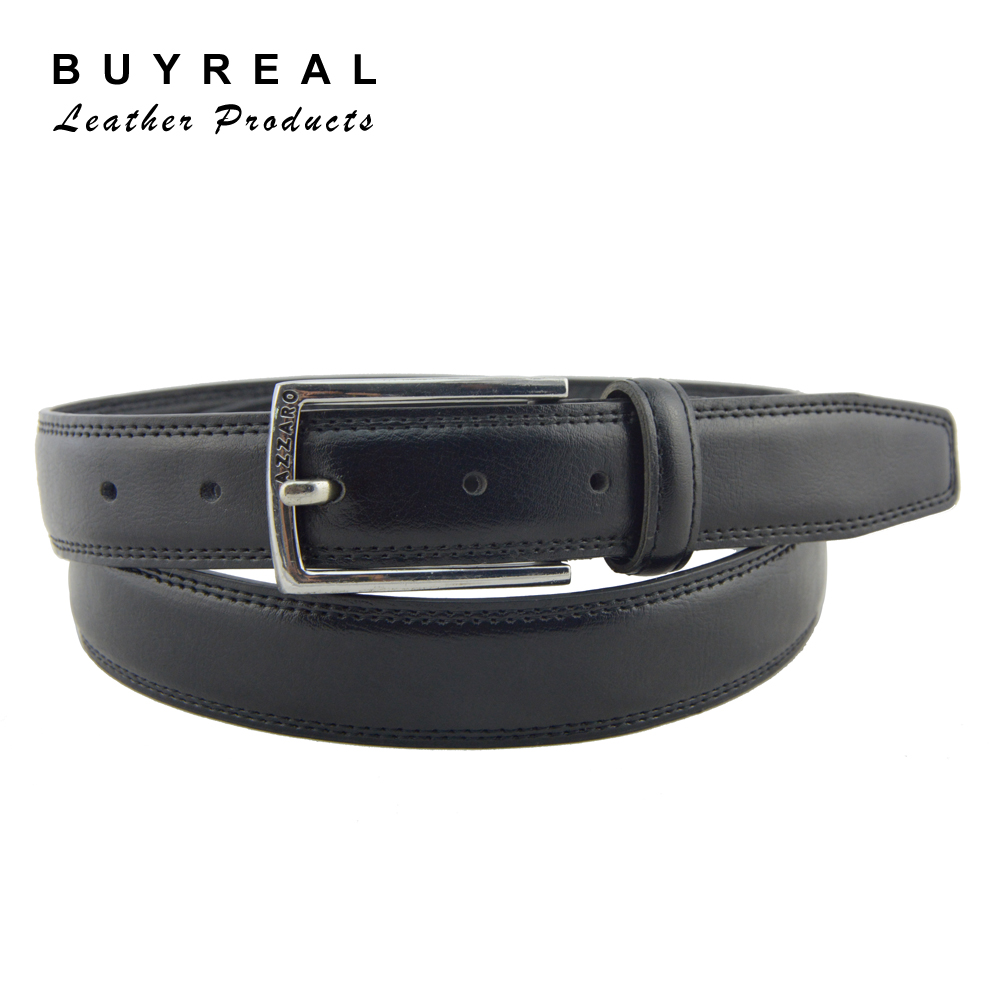 Men's Genuine Leather Adjustable Pin Buckle Belt With Removable ...