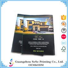 saddle stitching binding cheap art paper business catalog brochure printing