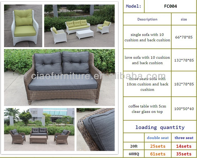 Middle Size White Wicker Sofa Garden Furniture Germany ...