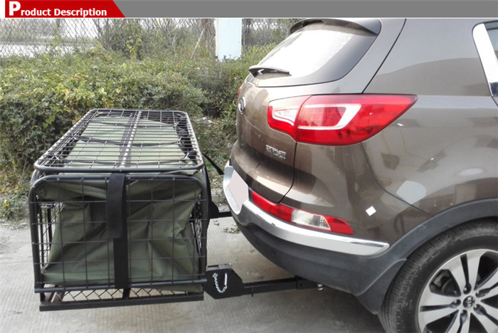 Hitch Mounted Folding Cargo Carrier Off Road Camping Car 4x4 Accessories