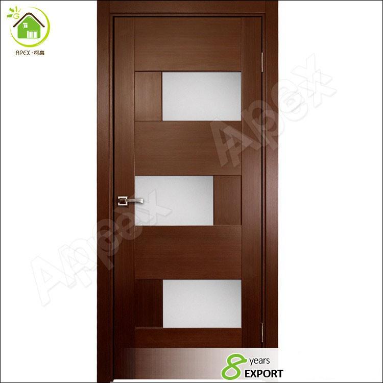 Red Oak Solid Wood Interior Doors Prehungcontemporary 5 Lite Mist