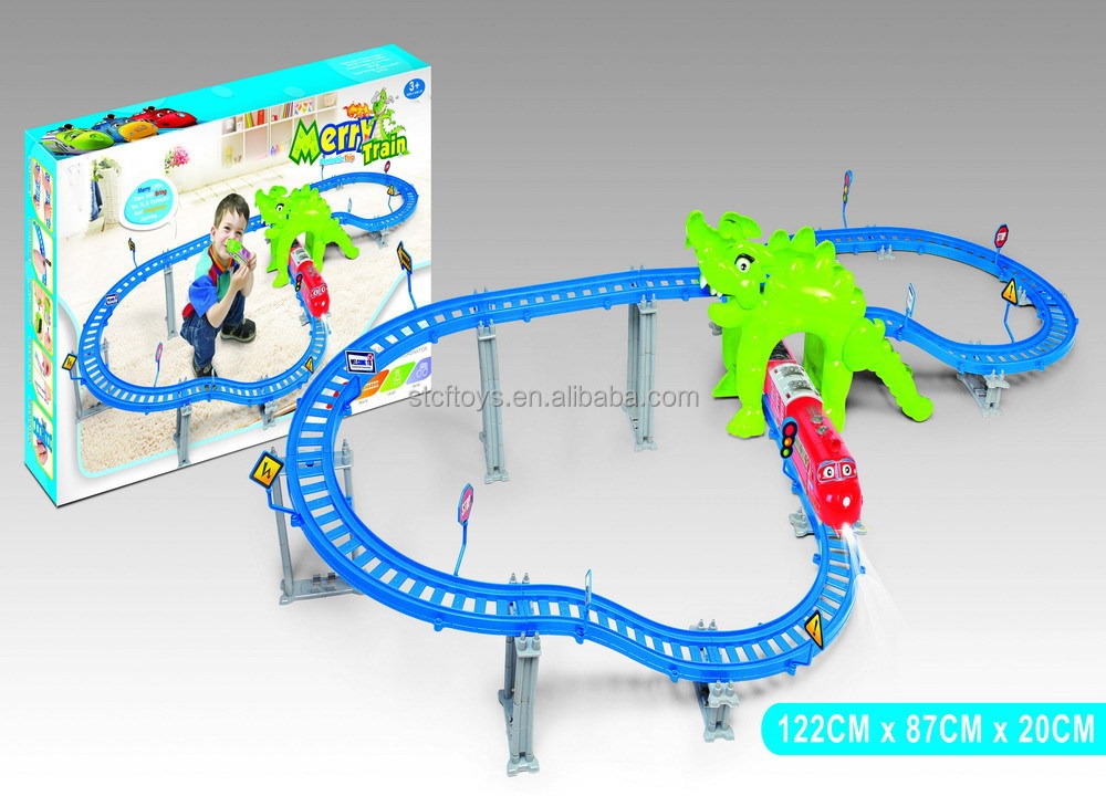 2015 bus music cartoon electric slot car racing track set electric car scrap train rail vehicle