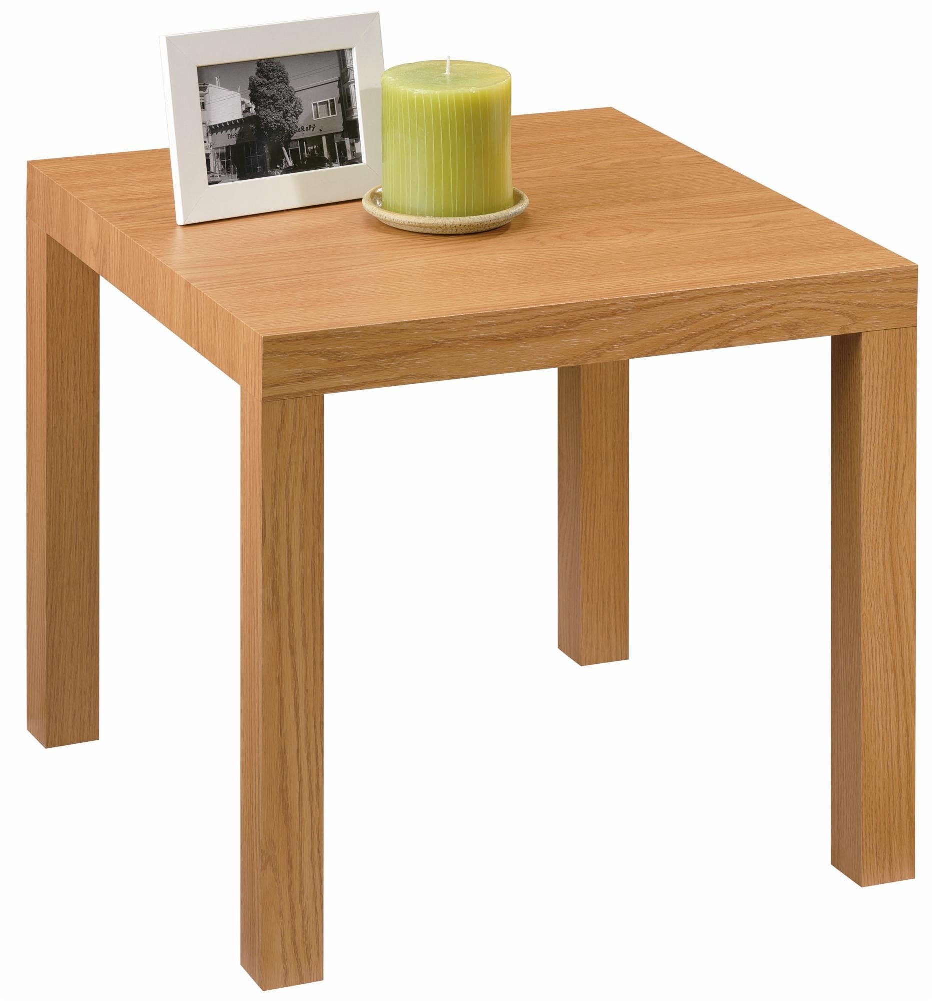 DHP Parsons Modern End Table, Multi-use and Toolless Assembly, Natural Stain