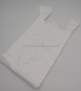 Plastic Carrier Bags Vest Bags White color for Shop Supermarket Retail Shop Stall