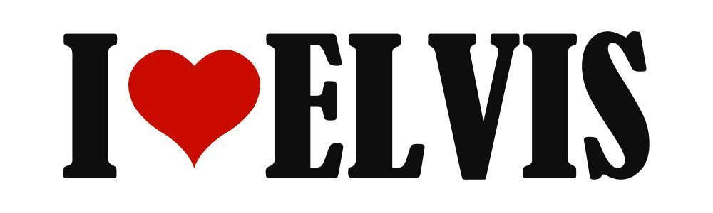 BuildASign I Love Elvis Funny Elvis Bumper Stickers
