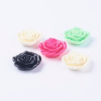 Rose Flower Resin Beads for Kids Bubblegum Necklace