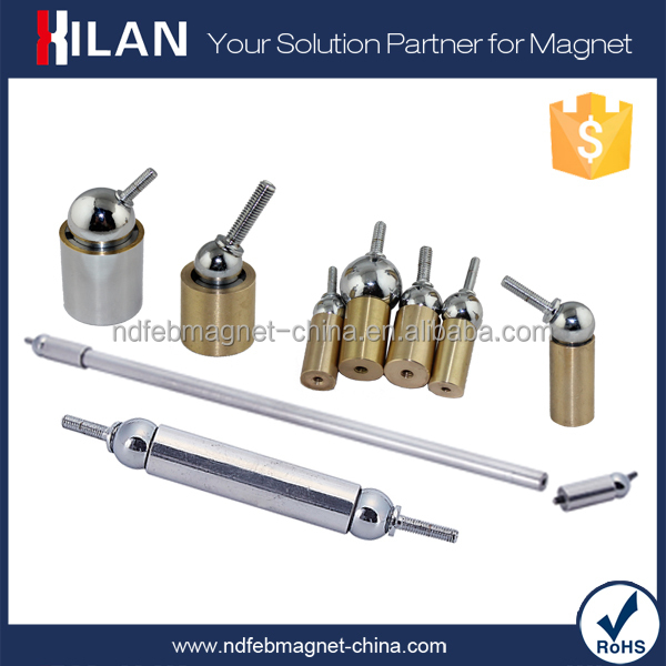 High performance universal magnetic coupling ball and