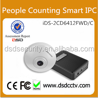 Professional People Counting Camera iDS-2CD6412FWD/C IP Camera Hikvision With Smart Detection
