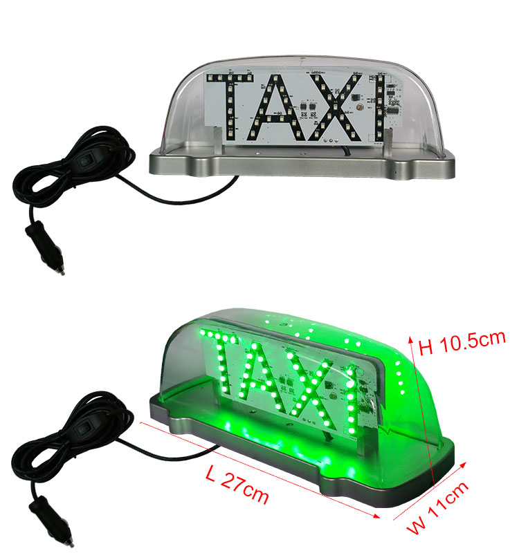 New style double side taxi top led sign with red and green color control by cable button