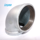 90 Degree Galvanized Pipe Fittings Maiieable Iron Solid Elbow Gi Cast Iron Elbow 1 1/4 gi elbow