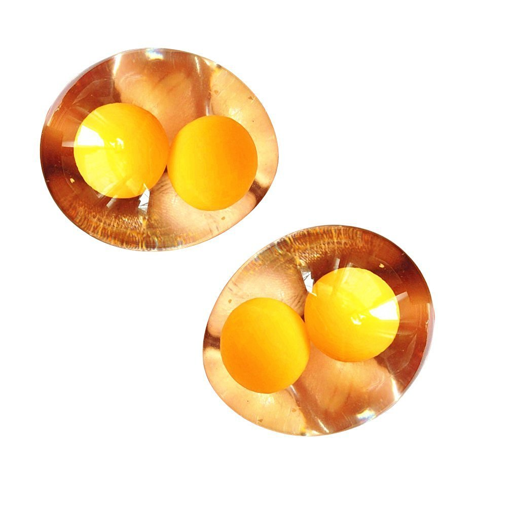 Jack-Store Wrestling Is Not a Bad Double Yellow Eggs Water Polo, Vent Toys Strange New Creative Gift Gift Shock Toys Tricky 2 Pcs