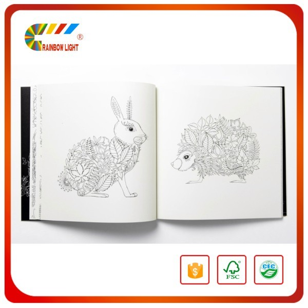China Factory Wholesale Colour Printing Washable Coloring Book For Adults