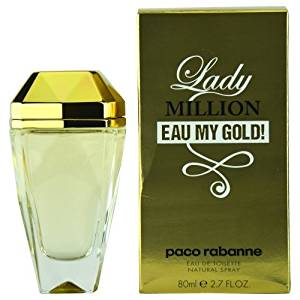PACO RABANNE LADY MILLION EAU MY GOLD! by Paco Rabanne EDT SPRAY 2.7 OZ for WOMEN (Package Of 6)