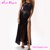 Hot Sale Black Lace Woman Sexy Split Maxi Dress