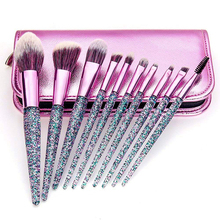 Amazon HOT Makeup Brushes Glitter Private Label <span class=keywords><strong>Maquiagem</strong></span> Jogo <span class=keywords><strong>de</strong></span> Escova