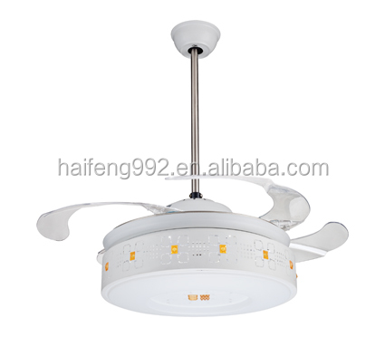 modern blade hidden decorative lighting ceiling fan blade hidden with led light