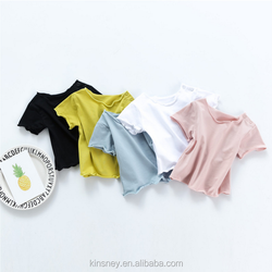 KS10587A Different solid color baby simple cotton blank t-shirt 2017